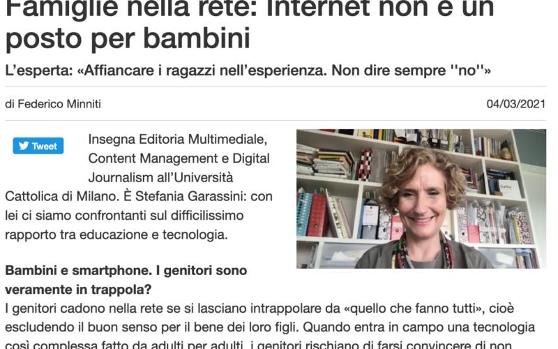 """""""Famiglie nella rete"""": intervista sull'Avvenire di Calabria"""
